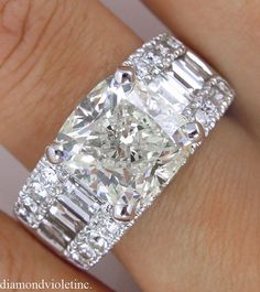 7.36ct Estate Vintage Cushion Diamond -- what a looker!