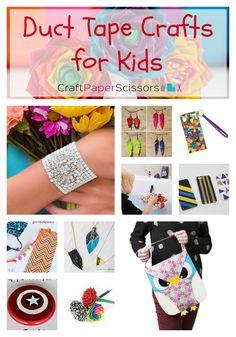 16 Summer Break Duct Tape Crafts for Kids