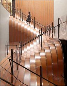 Incredible wave staircase, undulating architecture