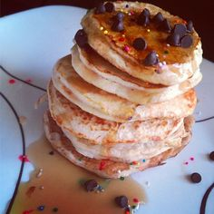 Protein Powder Pancakes: I scoop vanilla protein powder, 1 egg white, 3 tbsp almond milk, 1 tsp cinnamon, 1 tsp vanilla extract, 1.5 tbsp coconut flour