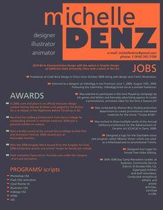 Michelle Denz Resume Design