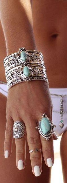 Boho jewelry style Www.Americanacool... #americanacool Clothing, Shoes & Jewelry: amzn.to/2iTBsa9