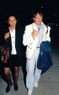 The following are classic (stock) images of Robin Williams with his second wife Marsha Garces Williams.