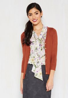 Charter School Cardigan in Ginger in M, #ModCloth