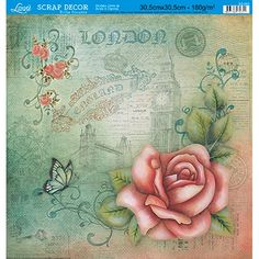 Papel-Scrap-Decor-Folha-Simples-Flores-SS-090---Litoarte