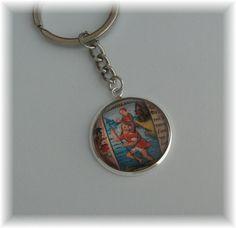 Schlüsselanhänger - 1 Schlüsselring Anhänger groß - St. Christophorus - ein Designerstück von die-deko-werkstatt bei DaWanda