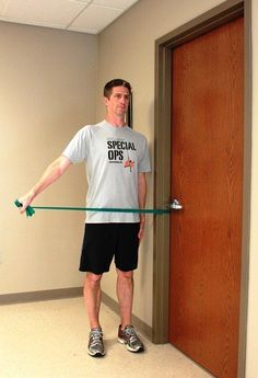 Strengthen Your Rotator Cuff Muscles with This Step By Step Exercise Program: Shoudler Abduction Using a Resistance Band