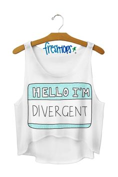 Hello Divergent Crop Top. Hello, i need this!