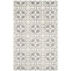 Safavieh Handmade Moroccan Chatham Dark Grey/ Ivory Wool Rug (4' x 6')