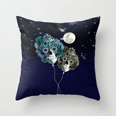 To the Moon and back Throw Pillow by Kristy Patterson Design - $20.00