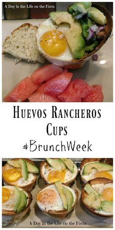 A Day in the Life on the Farm: Huevos Rancheros Cups #BrunchWeek