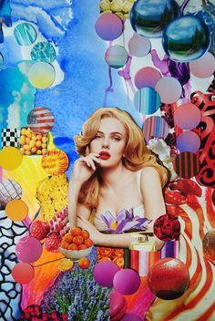 Scarlett Johansson, handmade collage http://society6.com/Turckart