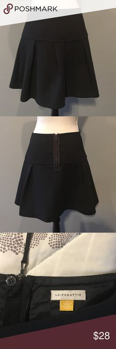 "Anthropologie Pleated Skater Skirt Anthropologie brand Leifsdottir skirt, back zipper closure. Waist approx 28"" and length approx 17.5"", above knee. In very good condition. Anthropologie Skirts Circle & Skater"