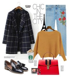 """Yoins.com: Chic in the city"" by hamaly ❤ liked on Polyvore featuring Gucci, yoins, yoinscollection and loveyoins"