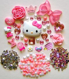 DIY Hello Kitty Bling Bling Flatback Resin Cabochons by lilysu, $16.99