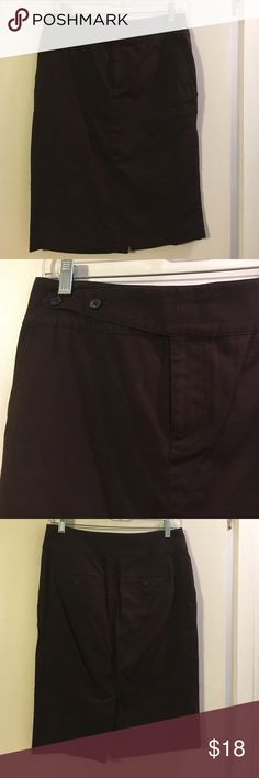 Ralph Lauren chocolate brown straight skirt Cotton with a touch of spandex. Back slit. Flat front. Front slash pockets Lauren Ralph Lauren Skirts