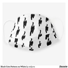 Shop Black Cats Pattern on White Cloth Face Mask created by stdjura. Cat Face Mask, Face Masks, Unique Gifts For Him, Cute Black Cats, Cat Pattern, Cute Faces, Snug Fit, Sensitive Skin, Sunglasses Case