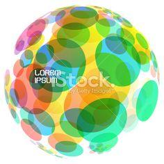 Abstract globe. Vector illustration. Royalty Free Stock Vector Art Illustration