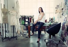 """Marchesa Designer : Chapman's office space is a studio through and through. """"I'm not precious about my work environment,"""" she says."""