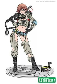 Ghost Busters - Lucy by Shunya Yamashita Girl Inspiration, Character Design Inspiration, Bishoujo Statue, Manga Tutorial, Video Games Girls, Anime Military, Anime Poses Reference, Female Reference, Ghost Busters