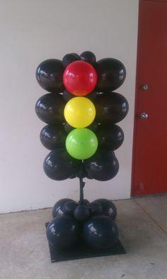 Street Light Balloon Columns