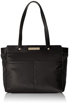 Calvin Klein Nylon Tote Black *** Check this awesome product by going to the link at the image. (This is an affiliate link) Calvin Klein Handbags, Nylon Tote, Gym Bag, Tote Bag, Black And White, Navy, Amazon, Best Deals, Image Link