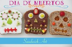 Día de los Muertos / Day of the Dead Sandwich Art
