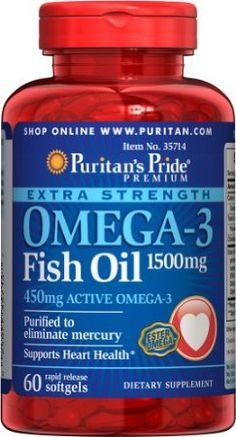 Amazon.com: Puritan's Pride Omega-3 Fish Oil 1500 mg: Health & Personal Care