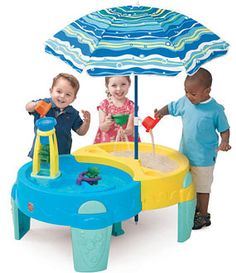 A sand and water table like the Step2 Shady Oasis Sand and Water Play Table