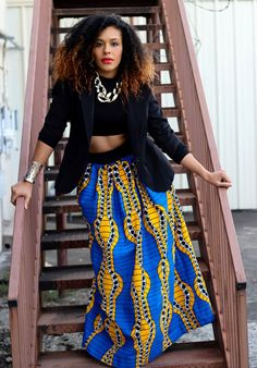 A LEAP OF STYLE...African Print Maxi: The Classic Maxi