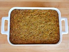 Simple, easy recipe for potato kugel spiced up with Middle Eastern flavors. Step-by-step photos. Pareve, Vegetarian, Kosher for Passover.