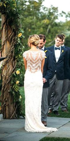 wedding dresses with illusion lace 3