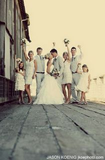 i like this because i am having a small wedding party and i always see pics of huge ones