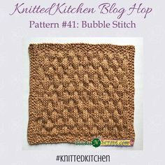Knitted Kitchen #41 - Bubble Stitch