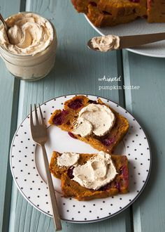 Think- Thanksgiving breakfast! Whipped Pumpkin-Butter recipe.