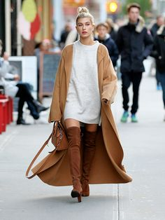 Okay, These Over-the-Knee Boot Outfits Are Epic via @WhoWhatWear