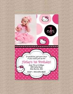 Birthday party invitation hello kitty set by creativepartiesandu hello kitty birthday party invitations by honeyprint on etsy 1500 filmwisefo