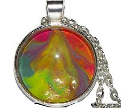 Colorful One of a Kind Necklace Gift for Women Men by Zedezign