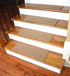 Dean Non Slip DIY Carpet Stair Treads   Gold, 15 Treads