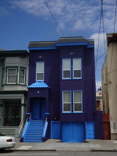 Purple house by michiexile, via Flickr