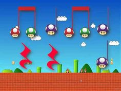 Use for form and rhythm- the video timing is way off but the idea is solid. (S) Practice quarter note/rest, eighth notes. Lectura Musical (Mario Bros) kinda fun, boys would love it, could also use for form! Music Education Games, Music Activities, Music Games, Music Lesson Plans, Music Lessons, Reading Music, Music Classroom, Music Math, Primary Music