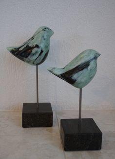 Vogeltjes van Aziatisch Speksteen - Marjen Blanken
