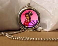 Cat Girl Art Necklace, Cat Girl Pendant, Cat Girl Necklace, Cat Girl , Fantasy Artwork, Art Pendant, Floating Charm, Fantasy Pendant by Nanafantasy on Etsy