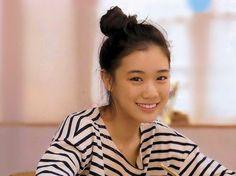 Yu Aoi in stripe Stunning Girls, Beautiful, Hula Girl, Celebs, Celebrities, Bun Hairstyles, Prom Hair, Beauty Women, Cute Girls