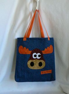 Boys Bagwith a moose appliquePersonalized girls by MontanaTwirls