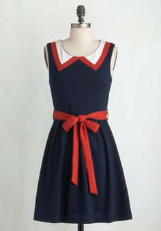 Red, White, and Cute Dress, @ModCloth