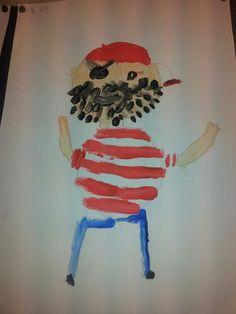 Begeleide of zelfstandige activiteit - Schilder een echte piraat