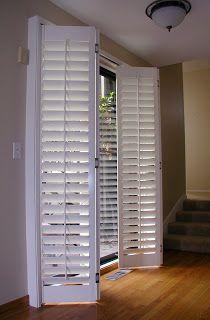 plantation shutters for sliding door   : Accordion Plantation Shutters, Fold em' as you .