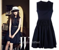 YoonA in Carven: Gathered Sleeveless Dress