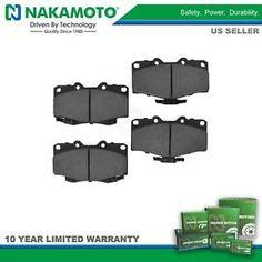 a nakamoto disc brake pad set kit ceramic front for toyota 4runner tacoma pickup